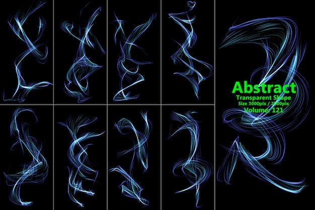 Bewegung transparente form
