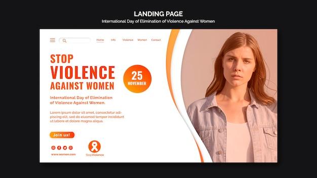 Bewusstsein für gewalt gegen frauen landingpage vorlage