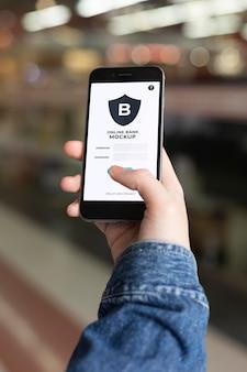 Bezahl-app für smartphone-mock-up
