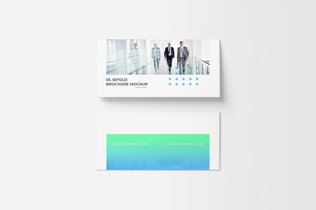 Bi-fold brochure mockup