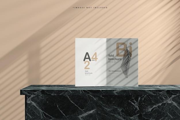 Bi-fold-broschürenmodell im format a4