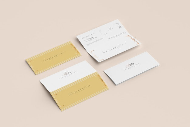 Bi-fold horizontal dl-broschürenmodell