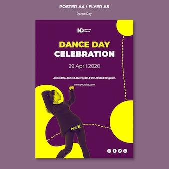Bicolored dance day druckvorlage