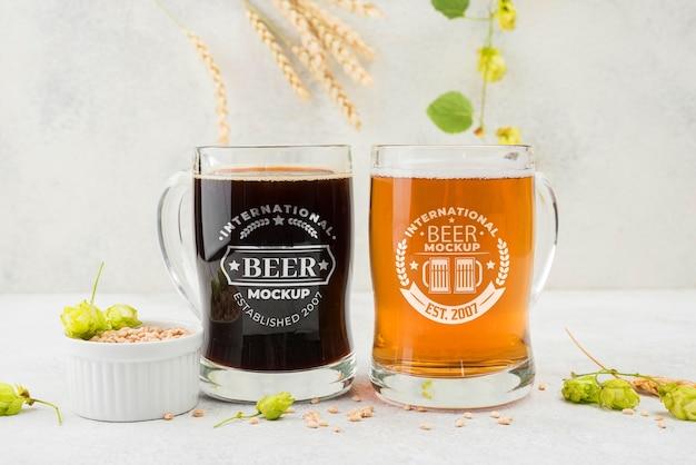 Bier pints mit gerste