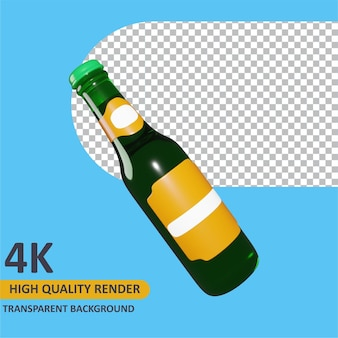 Bierflasche cartoon rendering 3d-modellierung