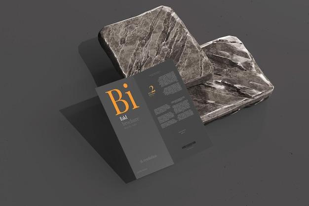 Bifold-broschürenmodell in dl-größe