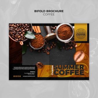 Bifold-broschürenschablone des coffeeshops