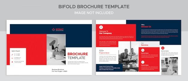 Bifold-broschürenvorlage für unternehmen