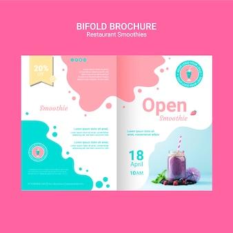Bifold smoothie broschüren vorlage
