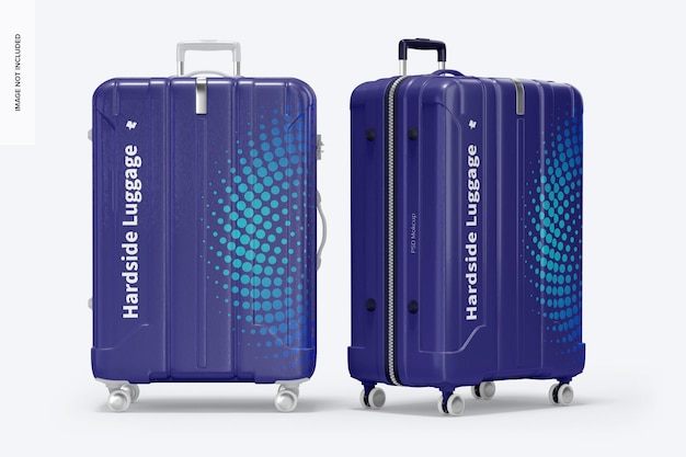 Big hardside luggage mockup, vorderansicht