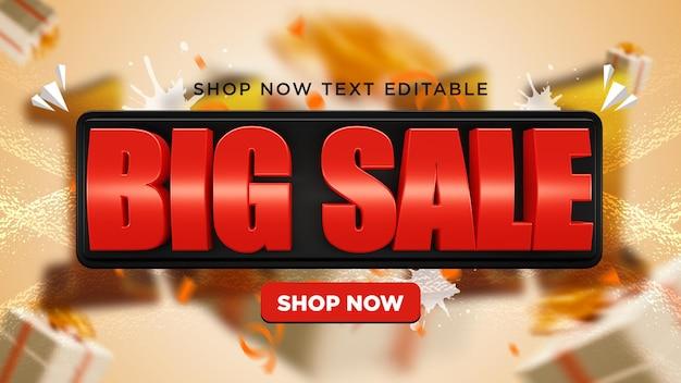 Big sale 3d banner premium psd
