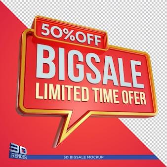 Big sale 3d mockup design isoliert