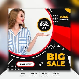 Big sale social media banner vorlage