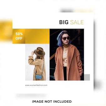 Big sale social media beitragsvorlage