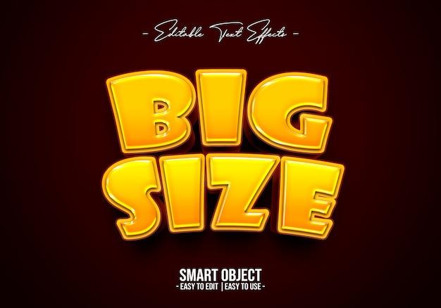 Big-size-text-style-effekt