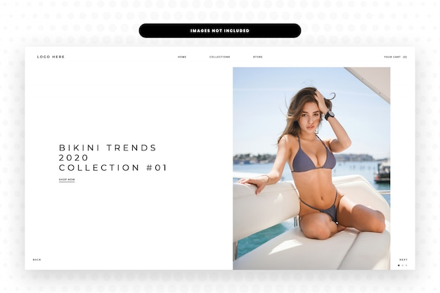 Bikini trends collection website landing page