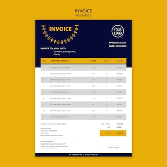 Bilanzbilanzvorlage für mechaniker