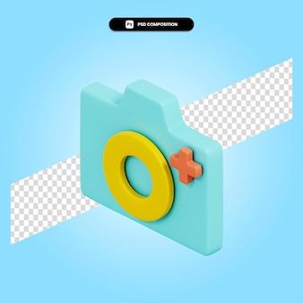 Bild hinzufügen 3d-render-illustration isoliert