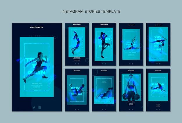 Bilden sie aus, um instagram geschichten-schablonensammlung zu erhalten