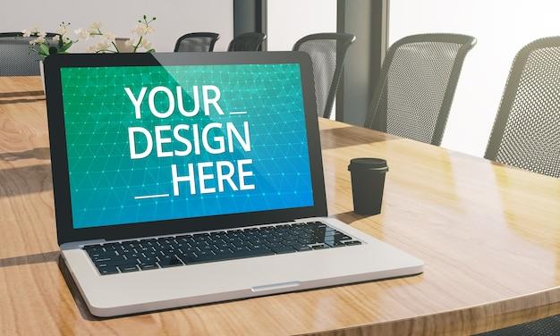 Bildschirm laptop am konferenzraum modell