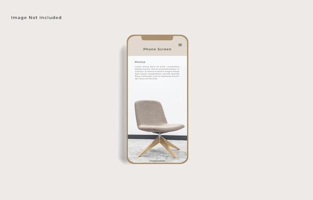 Bildschirm smartphone-modell draufsicht