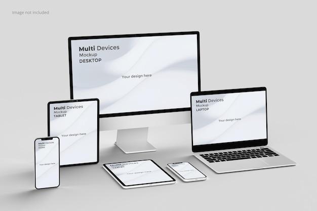 Bildschirmmodell mit responsivem bildschirm für mehrere geräte