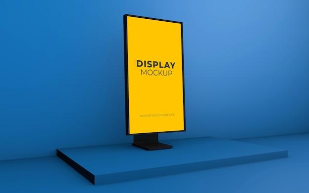 Bildschirmmodellentwurf im 3d-rendering isoliert