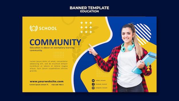 Bildung horizontale banner vorlage