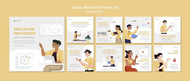 Bildungsbeeinflusser social media post