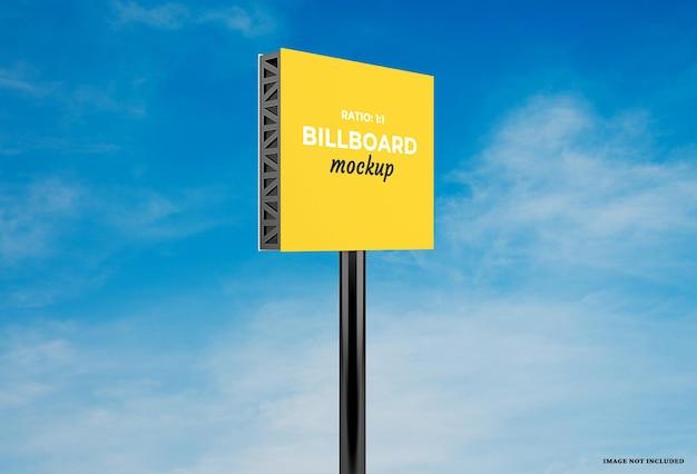 Billboard-mockup-design mit veränderbaren farben