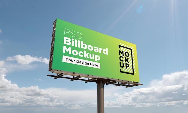Billboard mockup vorlage, seitenansicht