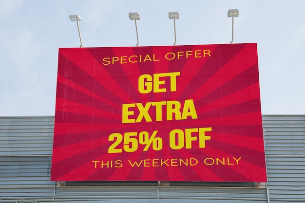 Billboard-modell auf einkaufszentrum