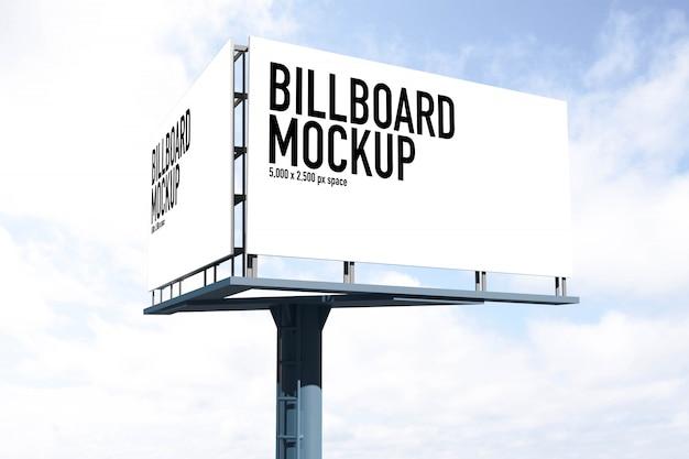 Billboard-modell für den szenenersteller in free psd