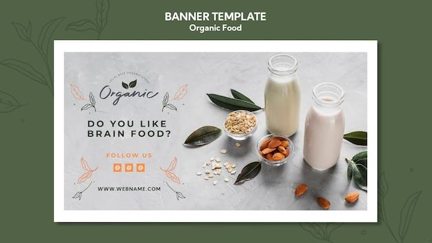 Bio-lebensmittel banner vorlage
