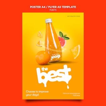Bio-saft poster vorlage