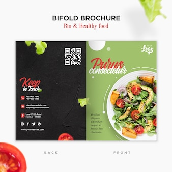 Bio und gesunde bifold-broschüre