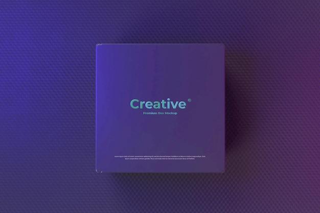 Black box mockup eleganter neoneffekt