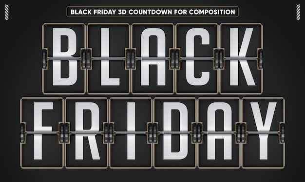 Black friday 3d countdown modell
