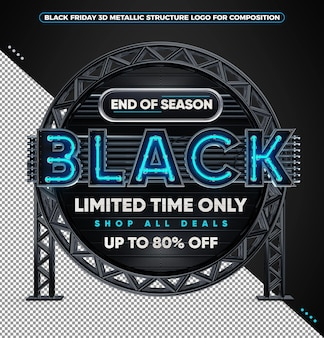 Black friday 3d-logo nur für begrenzte zeit shop alle angebote bis zu 80 rabatt