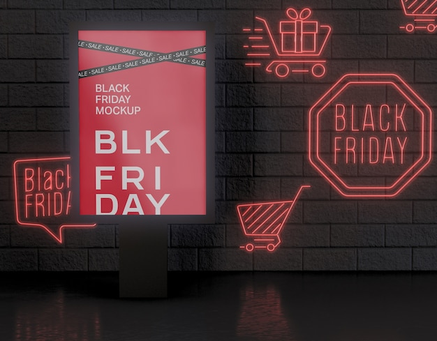 Black friday banner mockup