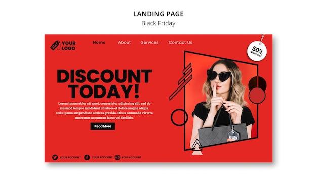 Black friday homepage
