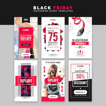 Black friday instagram-geschichten-schablone