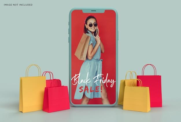Black friday mockup business concept marketing