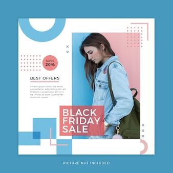 Black friday mode verkauf social media vorlage