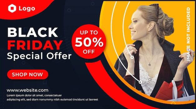 Black friday sale banner promotion vorlage