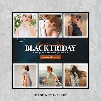 Black friday sale instagram social media post banner vorlage