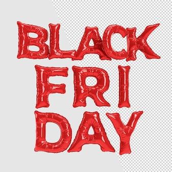 Black friday sale schwarze typografie. vorlage für werbung, werbung, web-, social- und fashion-anzeigen. 3d-rendering