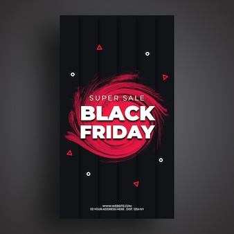 Black friday sale social media banner vorlage