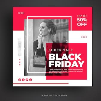 Black friday sale social media banner vorlage