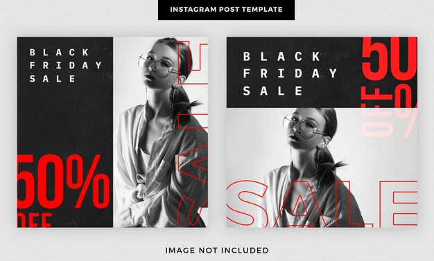 Black friday sale social media beitragsvorlage